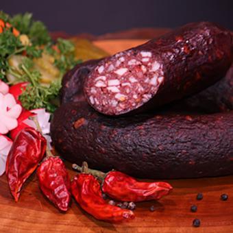 Chili-Schwarzwurst 250g